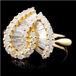 18K Yellow Gold 1.63ctw Diamond Ring
