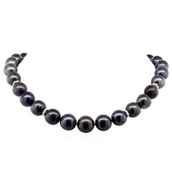 0.15ctw Tahitian Cultured Pearl and Diamond Necklace