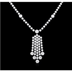 14KT White Gold 4.81ctw Diamond Necklace
