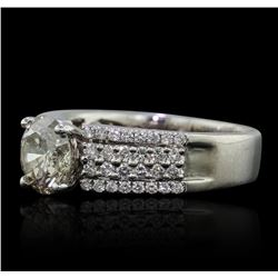 18KT White Gold 1.58ctw Diamond Ring