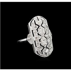 0.24ctw Diamond Ring - 18KT White Gold