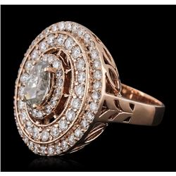 14KT Rose Gold 1.76ctw Diamond Ring
