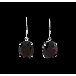 Crayola 22.00ctw Garnet Earrings - 14K White Gold