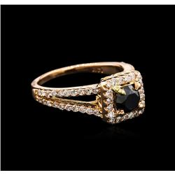 1.30ctw Black Diamond Ring - 14KT Rose Gold