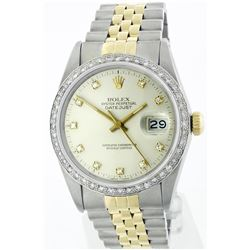 Rolex Two-Tone 1.20ctw Diamond DateJust Men's Watch