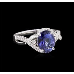 2.78ct Tanzanite and Diamond Ring - 14KT White Gold