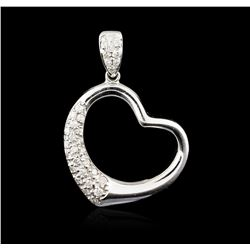 18KT White Gold 0.43ctw Diamond Heart Pendant