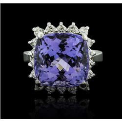 14KT White Gold 8.63ct Tanzanite and Diamond Ring
