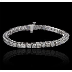 14KT White Gold 9.31ctw Diamond Tennis Bracelet