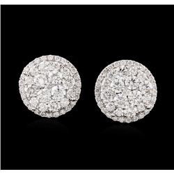 14KT White Gold 1.92ctw Diamond Earrings
