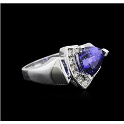 2.60ct Tanzanite and Diamond Ring - 14KT White Gold