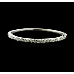 14KT White Gold 3.12ctw Diamond Bangle Bracelet