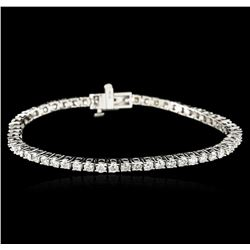 14KT White Gold 4.63ctw Diamond Tennis Bracelet