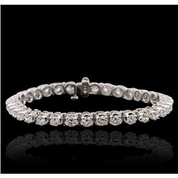 14KT White Gold 6.98ctw Diamond Tennis  Bracelet