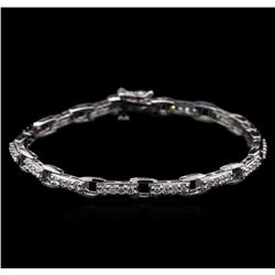 2.03ctw Diamond Bracelet - 14KT White Gold