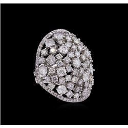 14KT White Gold 6.74ctw Diamond Ring