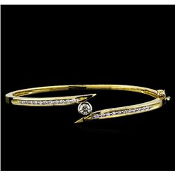 0.75ctw Diamond Bangle Bracelet - 14KT Yellow Gold