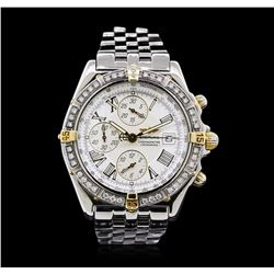 Breitling Stainless Steel Diamond Windrider Crosswind Men's Watch