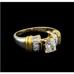 GIA Cert 1.26ctw Diamond Ring - 18KT Two-Tone Gold