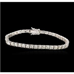 14KT White Gold 6.90ctw Diamond Tennis Bracelet