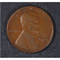 1924-D LINCOLN CENT, XF  SEMI-KEY DATE