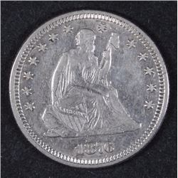 1876 SEATED LIBERTY QUARTER AU/BU