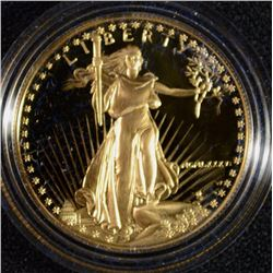 1986 GEM PROOF $50.00 GOLD EAGLE , ONE OUNCE,  IN ORIG BOX BUT NO COA