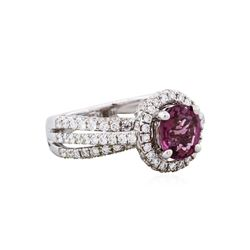 18KT White Gold 1.77ct Spinel and Diamond Ring