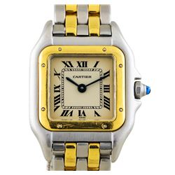 Two-Tone Stainless Steel and Gold Cartier Panthere Watch