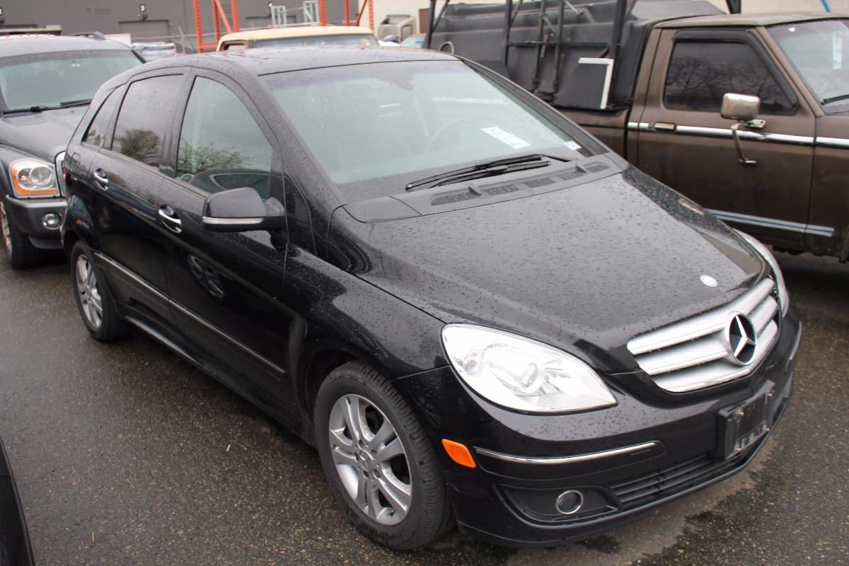 2007 MERCEDES B200 TURBO 4 DOOR HATCHBACK BLACK VIN