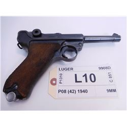 LUGER ,  MODEL: P08 (42 MAUSER FACTORY) ,  CALIBER: 9MM