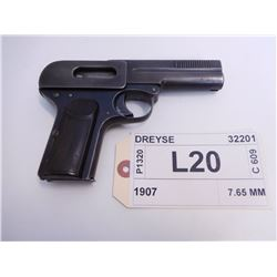 DREYSE ,  MODEL: 1907 ,  CALIBER: 7.65 MM