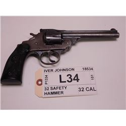 IVER JOHNSON ,  MODEL: 32 SAFETY HAMMER ,  CALIBER: 32 CAL