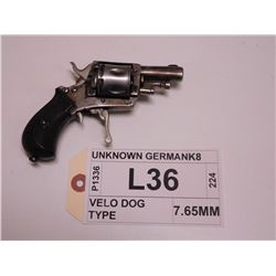 UNKNOWN GERMAN ,  MODEL: VELO DOG TYPE ,  CALIBER: 7.65MM