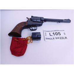 RUGER ,  MODEL: NEW MODEL SINGLE SIX COVERTIBLE ,  CALIBER: 22LR& 22 MAGNUM