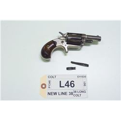 COLT, MODEL: NEW LINE 38, CALIBER: 38 LONG COLT