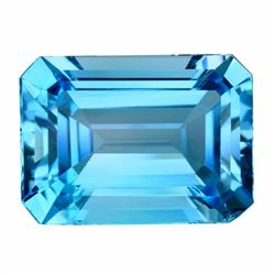Natural Emerald Cut Swiss Topaz 10.34 Carats - VVS