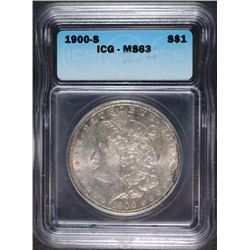 1900-S MORGAN DOLLAR ICG MS-63