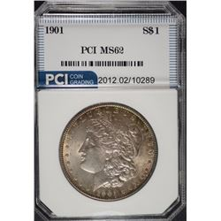1901 MORGAN SILVER DOLLAR, PCI CHOICE BU  FLASHY!  KEY DATE