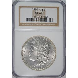1902-S MORGAN DOLLAR NGC MS61 KEY DATE