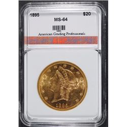1895 $20.00 GOLD LIBERTY, AGP GEM BU