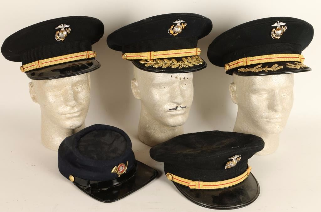 lot of 4 usmc officers covers
