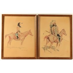 Collection of 2 Frederic Remington Prints