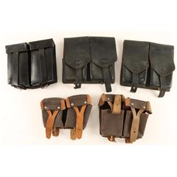 Lot of Five Ammo/Magazine Pouches