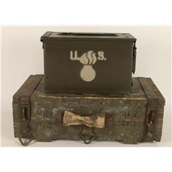 Lot of Two Ammo Boxes