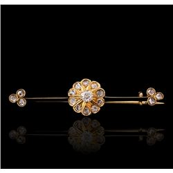 14KT Yellow Gold 0.48ctw Diamond Pin