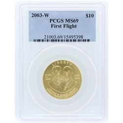 2003-W PCGS MS69 $10 First Flight Centennial Gold Coin