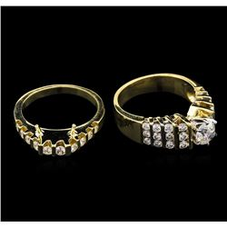 2.40ctw Diamond Wedding Ring Set - 14KT Yellow Gold