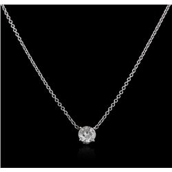 14KT White Gold 0.50ct Diamond Solitaire Pendant With Chain