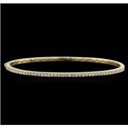 0.78ctw Diamond Bangle Bracelet - 14KT Yellow Gold